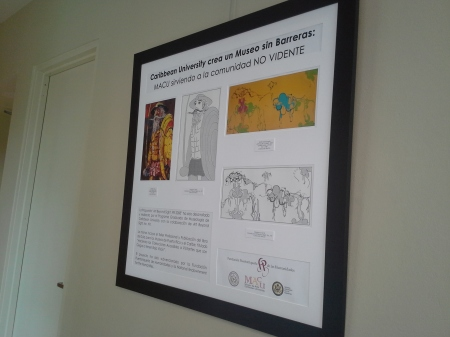Photo of Poster of Museo sin Barreras at the Caribbean University in Bayamón, Puerto Rico