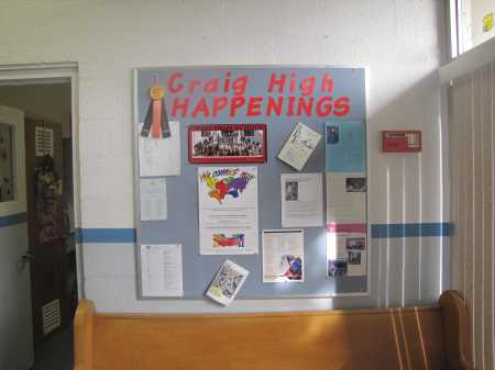 Photo of We Connect Now Disability Rights Campaign poster displayed on bulletin board at Craig High School in Lincoln Park, New Jersey