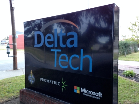 Photo of sign for Delta Tech in Lake Charles, LA