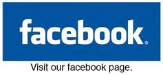 Facebook icon featuring the word facebook in white letters set against a blue background