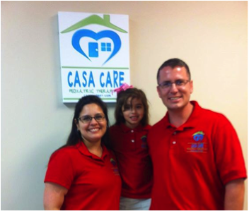 Karen Crilly with Family at Casa CarePediatric Therapy, LLC