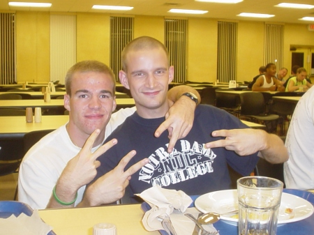 Photo of Zachary Fenell and Mike Mannozzi at Notre Dame College (South Euclid, Ohio)