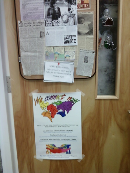 WCN Disability Rights Campaign Poster at Western Carolina University No.2