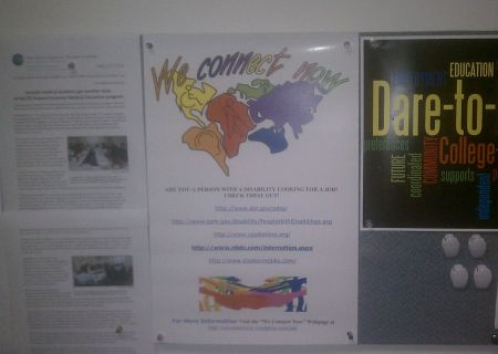Disability Rights Campaign poster posted by the New Jersey Center for Tourette Syndrome