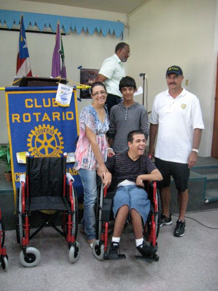 Wheelchair distributed to a young man in Yabucoa, Puerto Rico