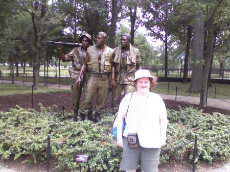 Photo of Raney Newman at the Vietnam War Memorial in Washington, DC