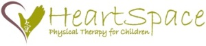 HeartSpace Physical Therapy for Children Logo stylized image of Heart with Hand